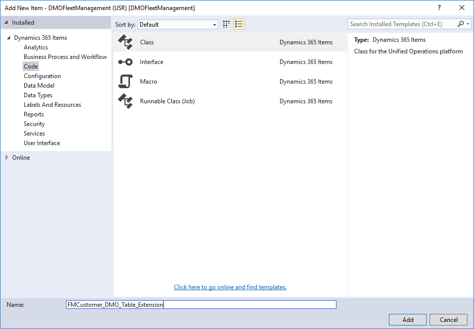Dynamics 365 Blog - Extend insert-method using chain of command in