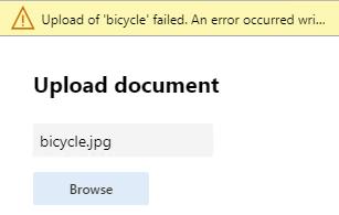 Image upload fails
